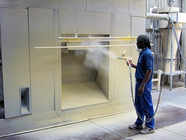 Eiger Engineering has their own on-site powder coating plant